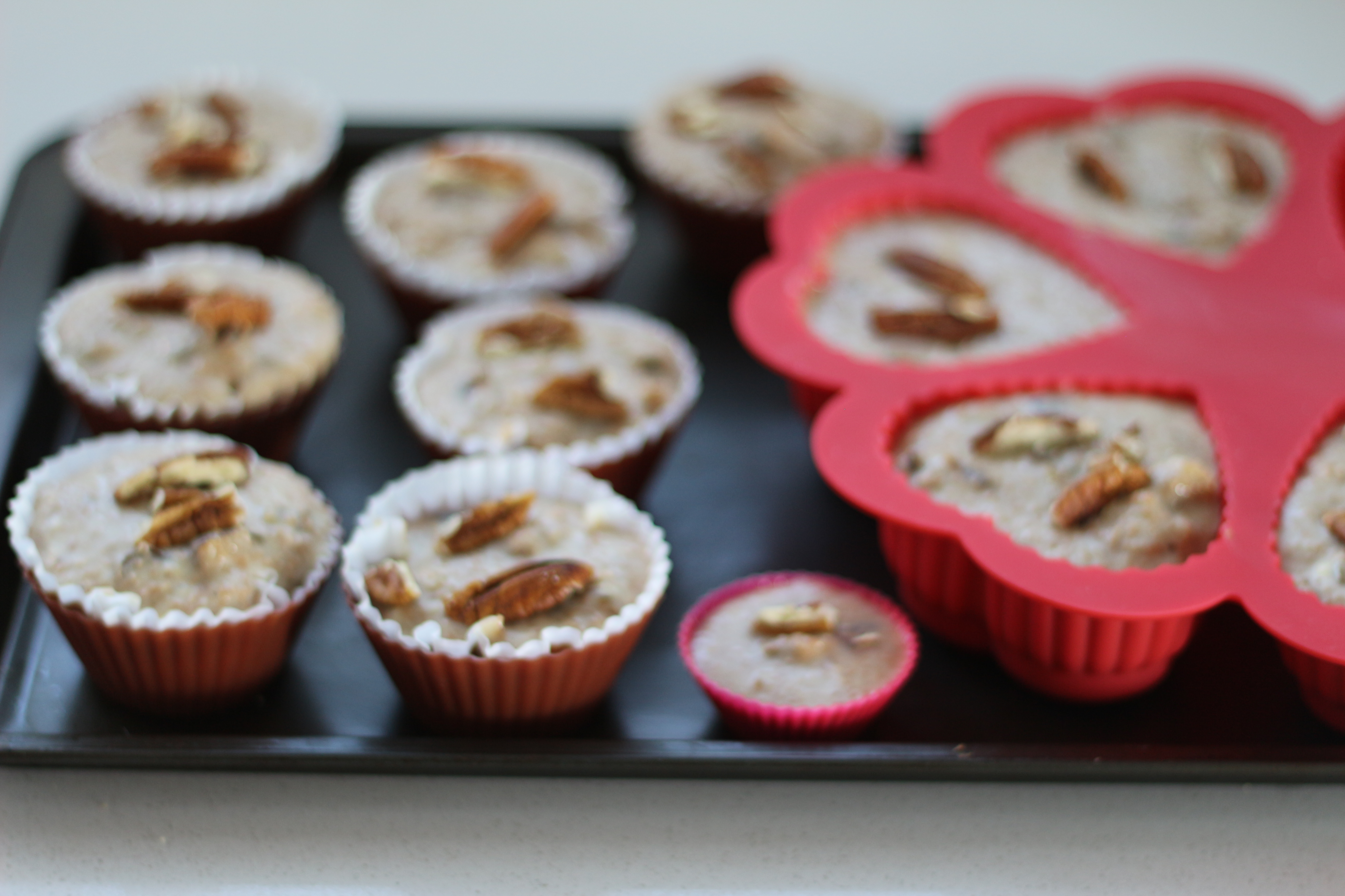 I used these silicone moulds as my muffin pans went missing during our renovations