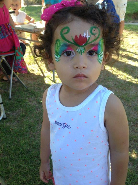 She loves getting her face painted