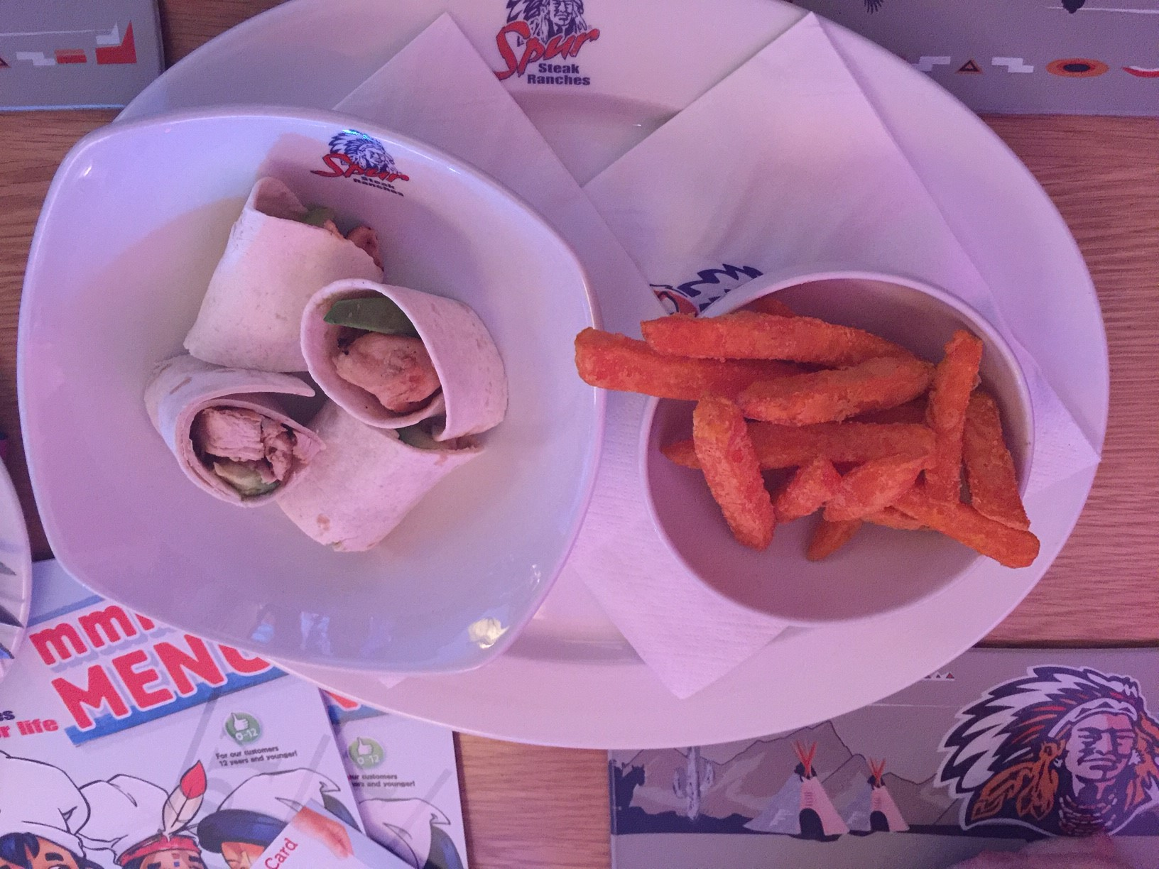 The chicken and avo wrap with sweet potato fries was my favourite